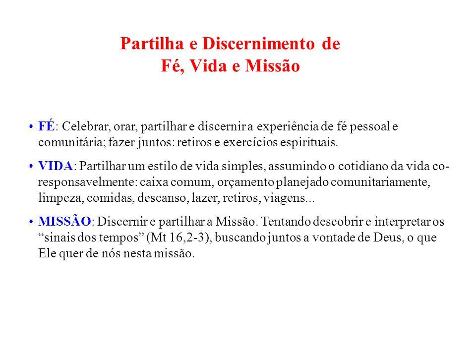 Partilha e Discernimento de Fé, Vida e Missão