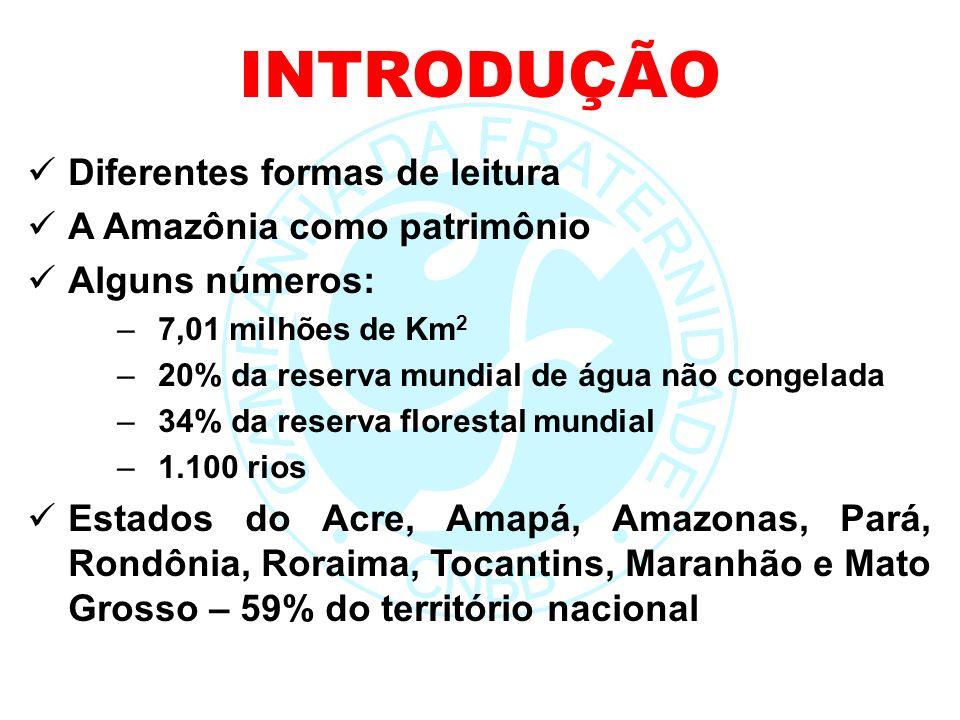 INTRODUÇÃO Diferentes formas de leitura A Amazônia como patrimônio