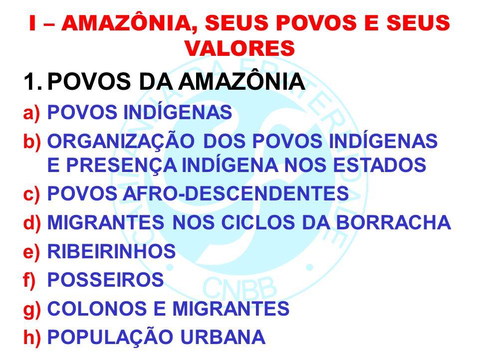 I – AMAZÔNIA, SEUS POVOS E SEUS VALORES