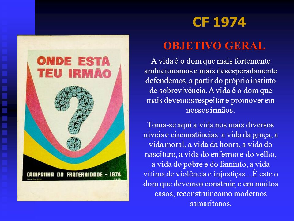 CF 1974 OBJETIVO GERAL.