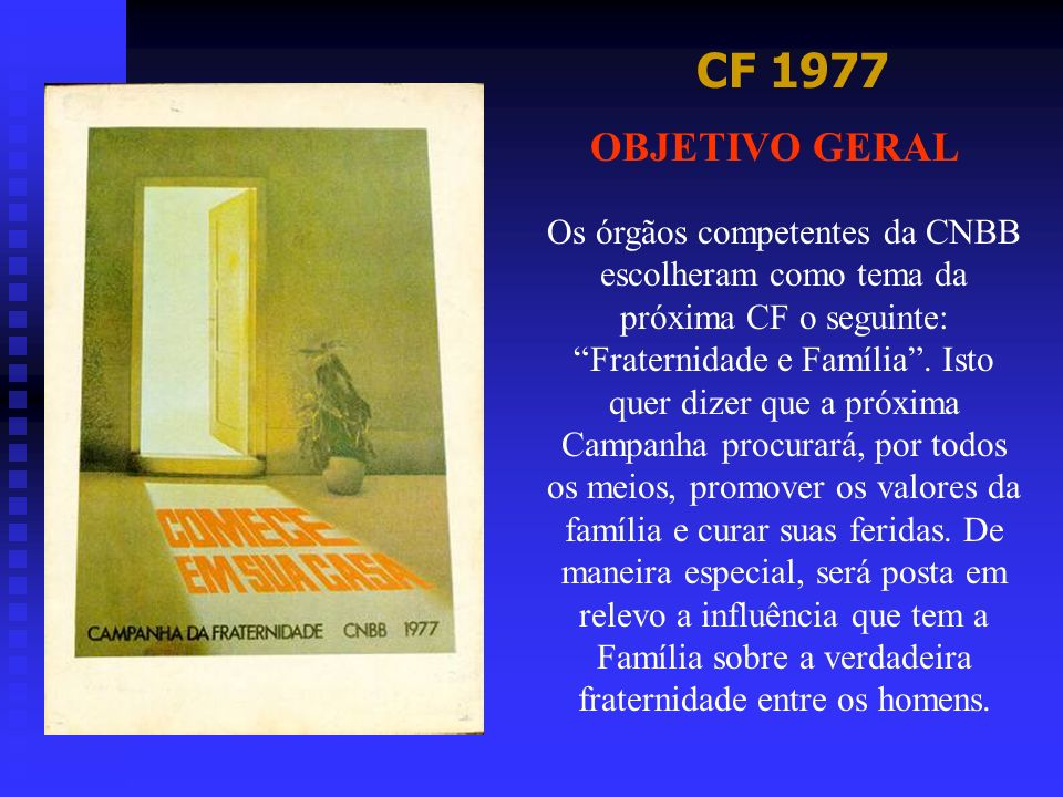 CF 1977OBJETIVO GERAL.