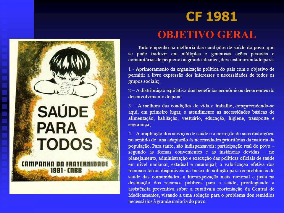 CF 1981 OBJETIVO GERAL.