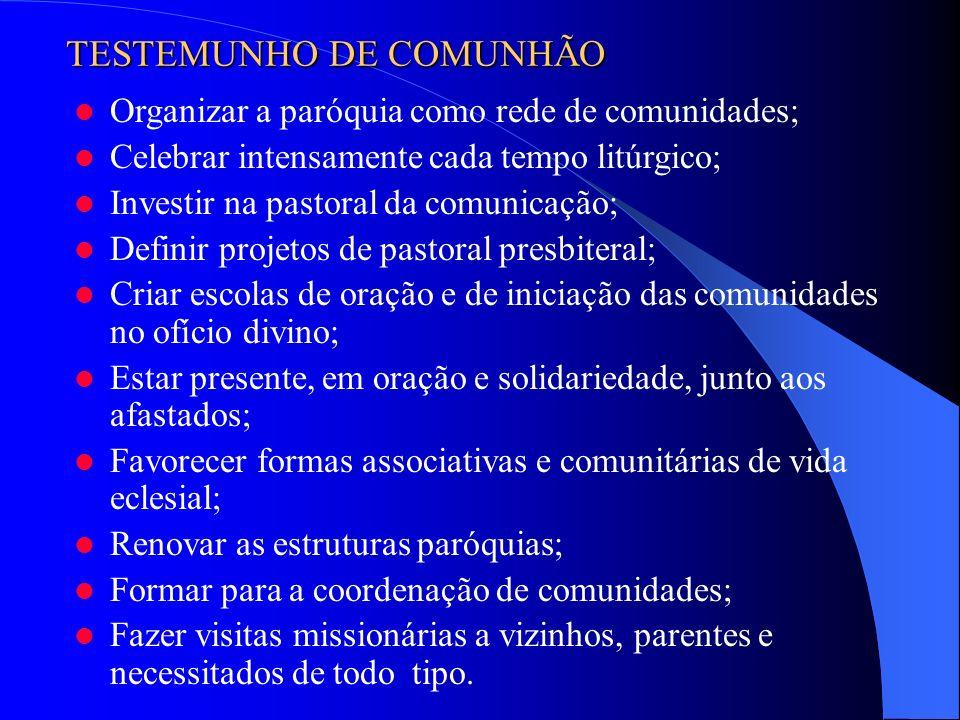 TESTEMUNHO DE COMUNHÃO