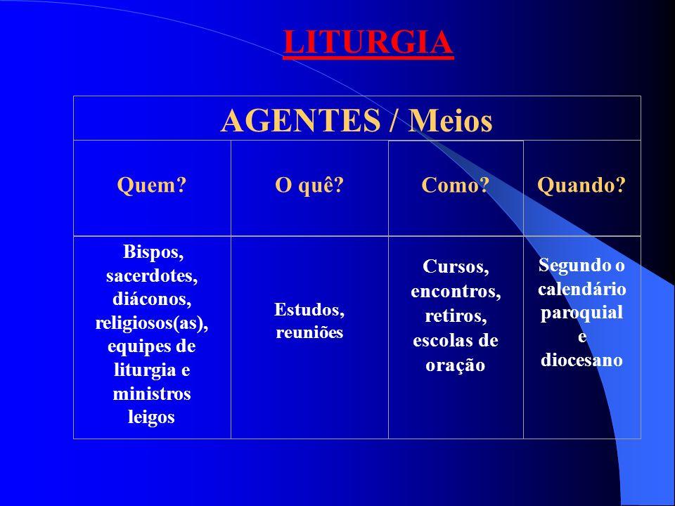 LITURGIA AGENTES / Meios