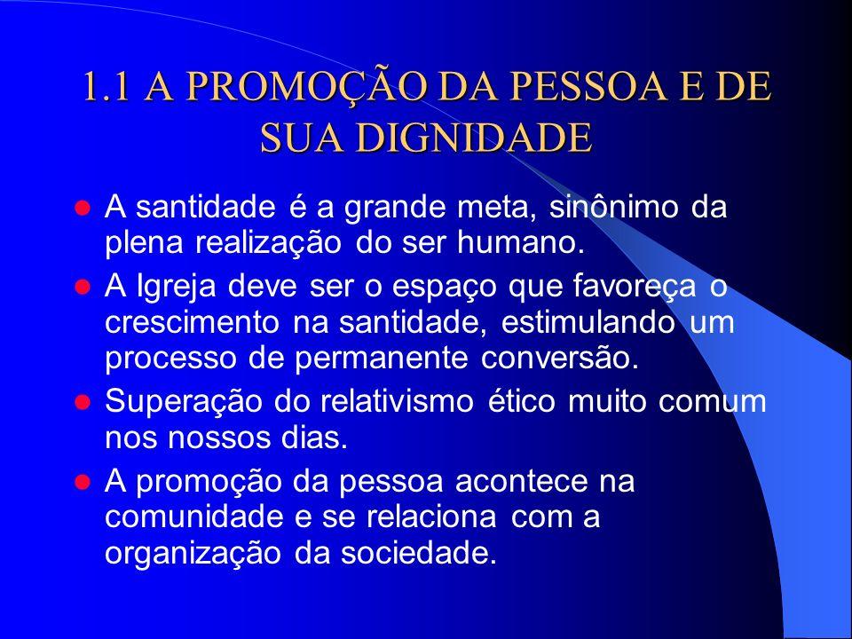 1.1 A PROMOÇÃO DA PESSOA E DE SUA DIGNIDADE