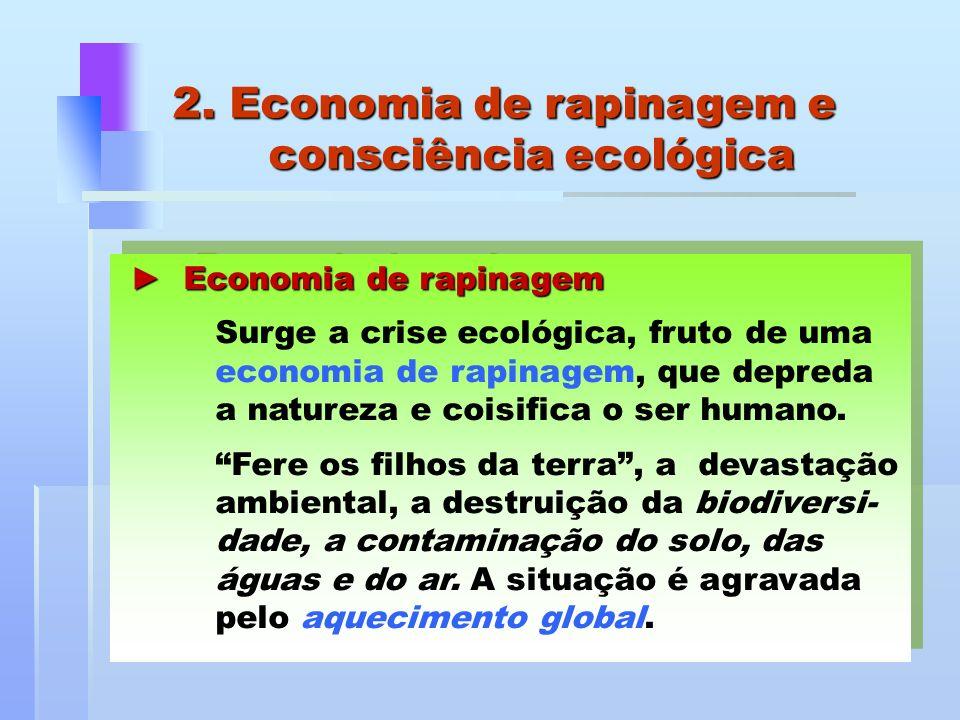 2. Economia de rapinagem e consciência ecológica
