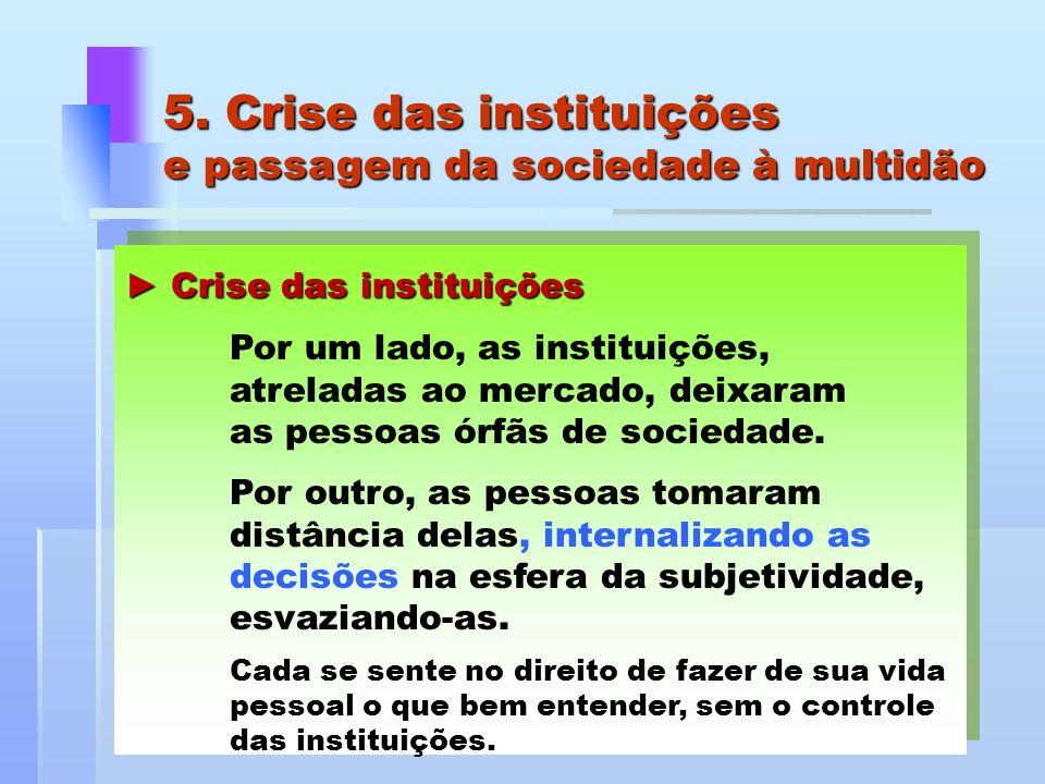 5. Crise das instituições