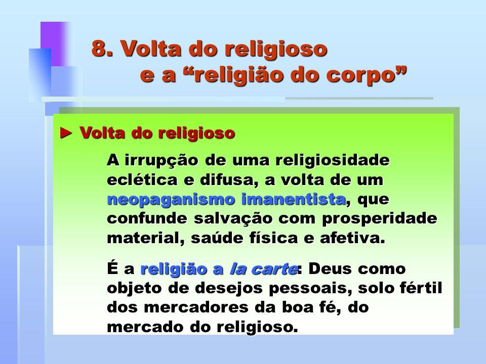 8. Volta do religioso e a religião do corpo
