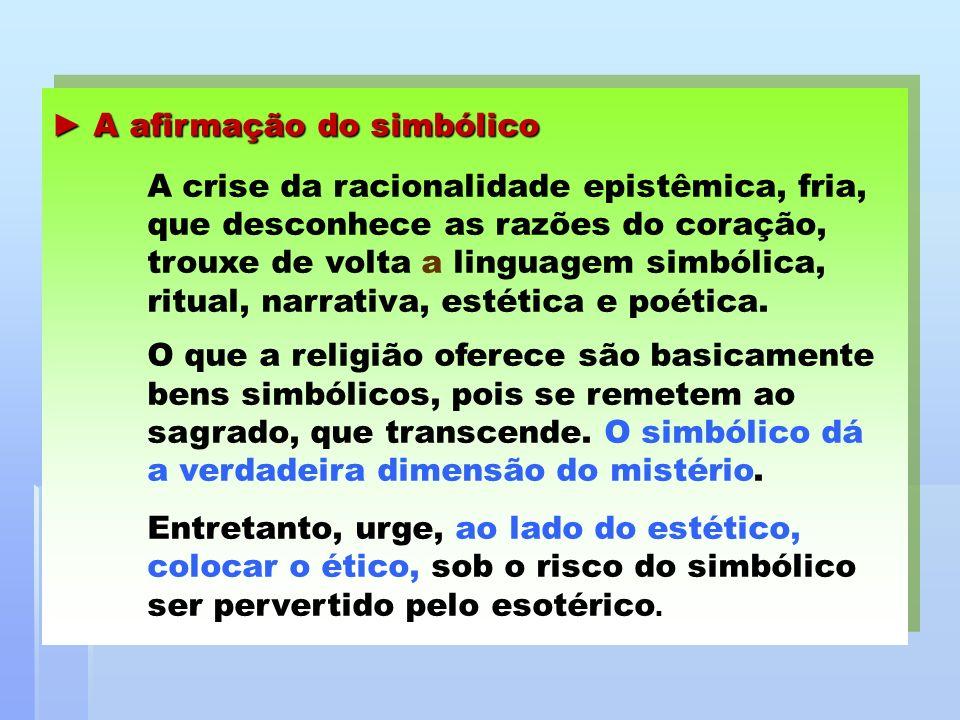 ► A afirmação do simbólico