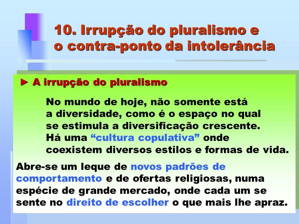 10. Irrupção do pluralismo e o contra-ponto da intolerância