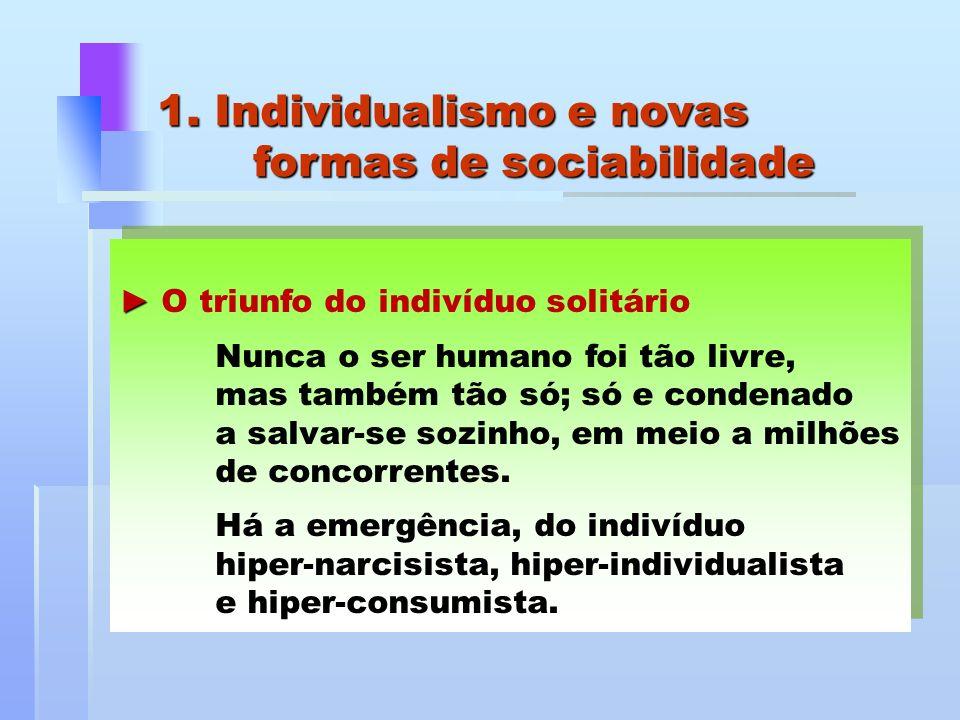 1. Individualismo e novas formas de sociabilidade