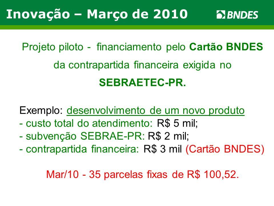 Mar/10 - 35 parcelas fixas de R$ 100,52.