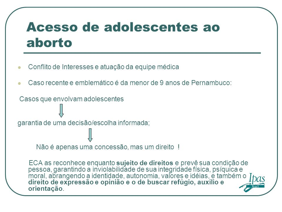 Acesso de adolescentes ao aborto