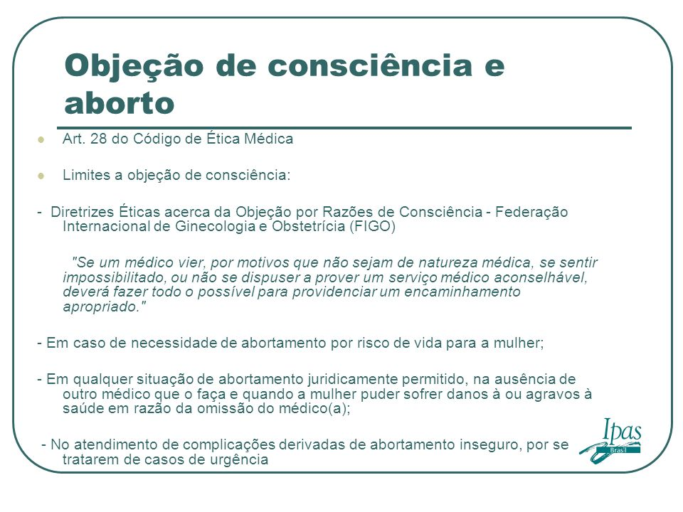 Objeção de consciência e aborto