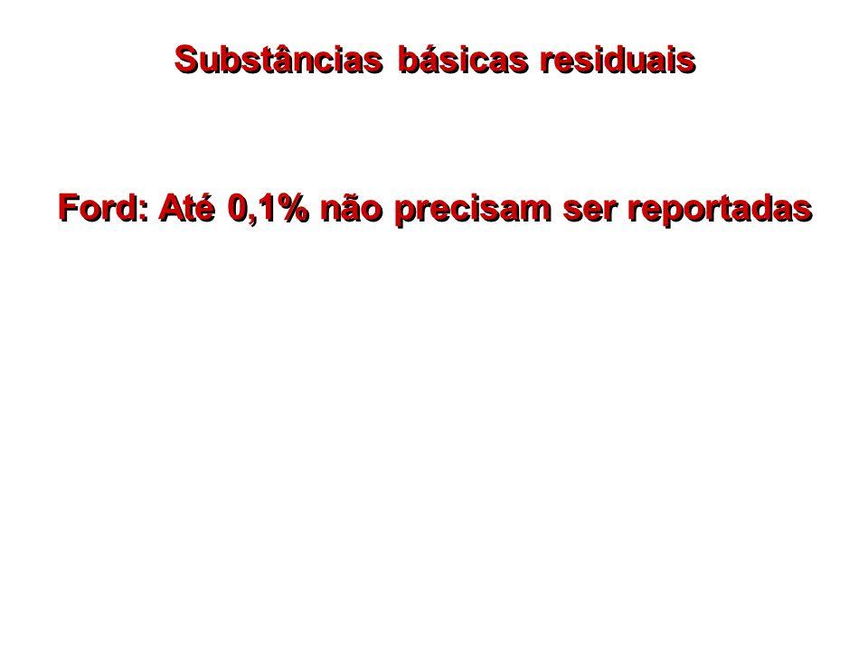 Substâncias básicas residuais