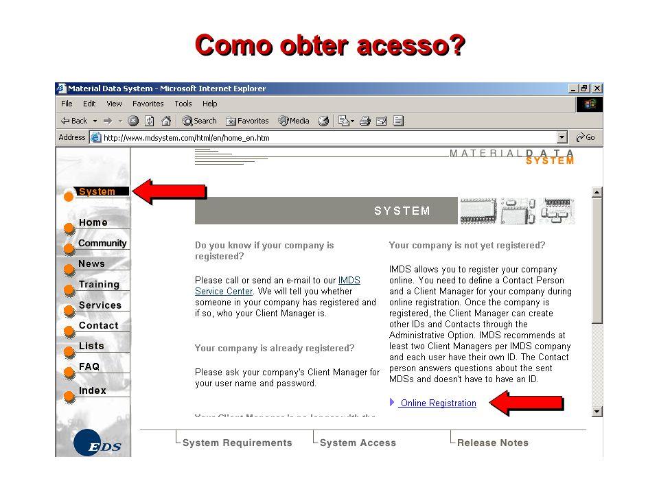 Como obter acesso