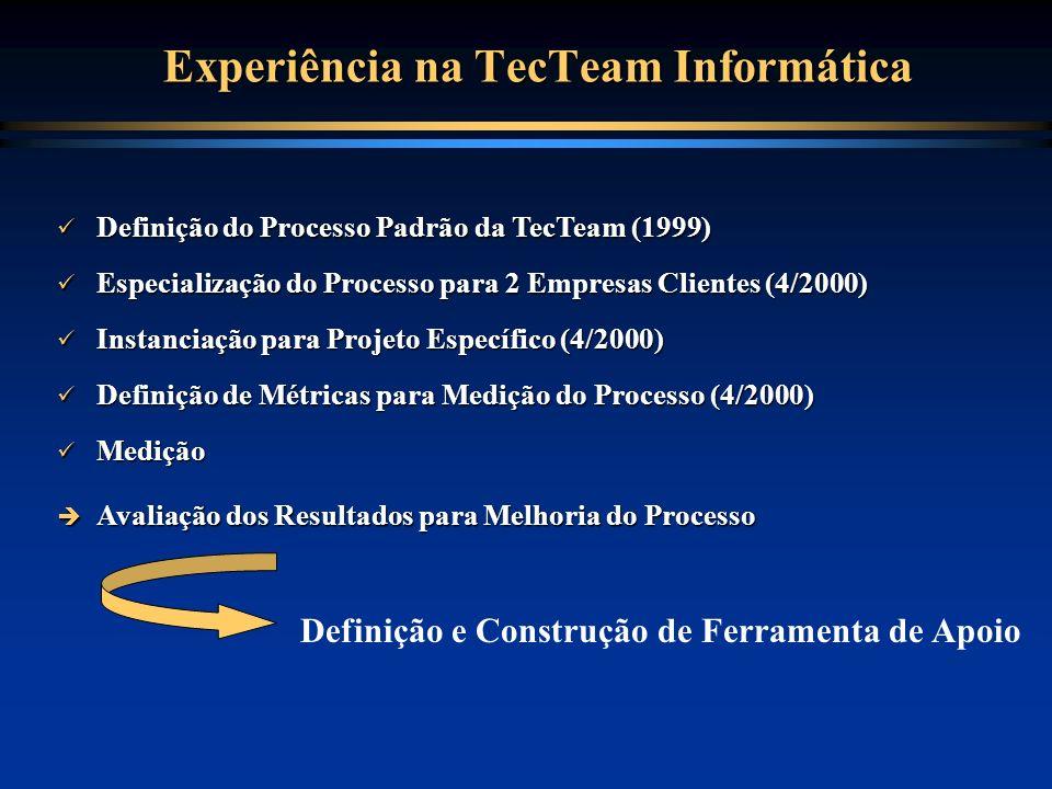 Experiência na TecTeam Informática