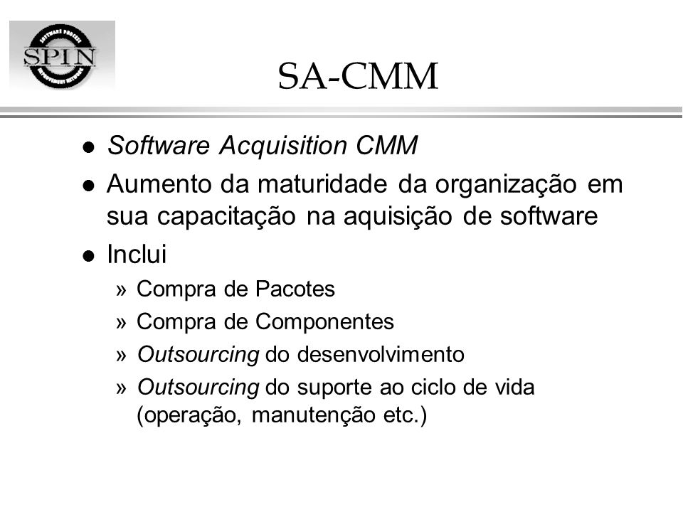 SA-CMM Software Acquisition CMM