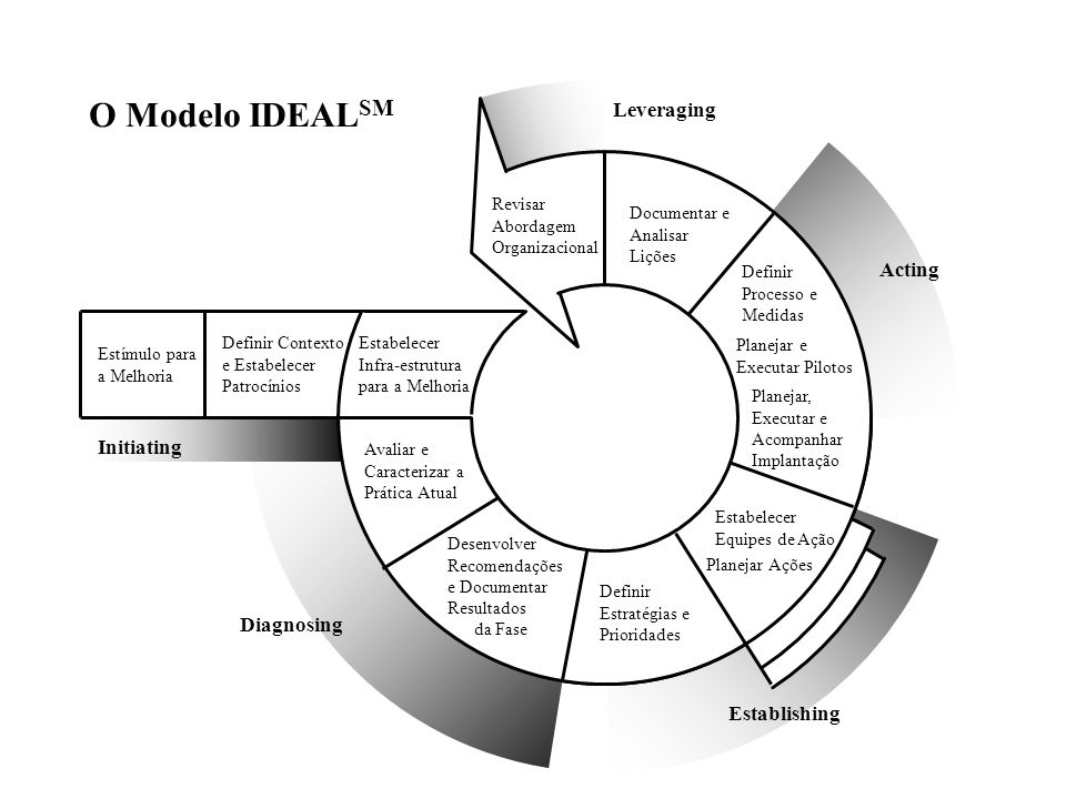 O Modelo IDEALSM Leveraging Acting Initiating Diagnosing Establishing