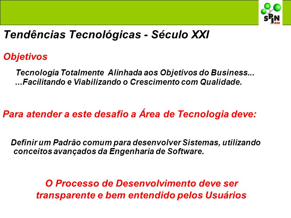 Tendências Tecnológicas - Século XXI