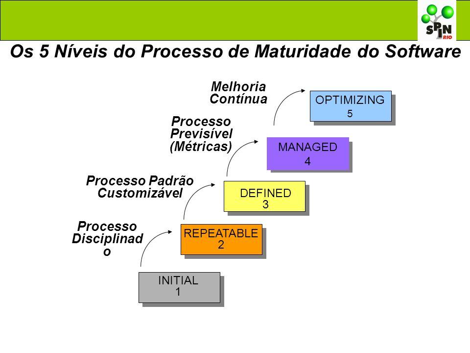 Os 5 Níveis do Processo de Maturidade do Software