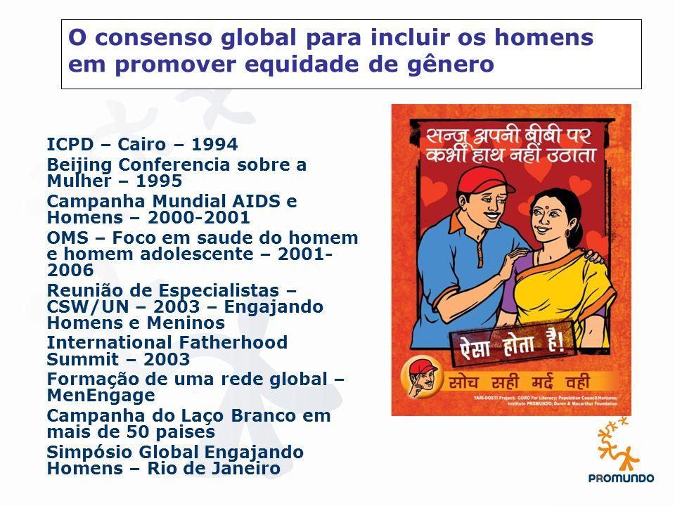 O consenso global para incluir os homens em promover equidade de gênero