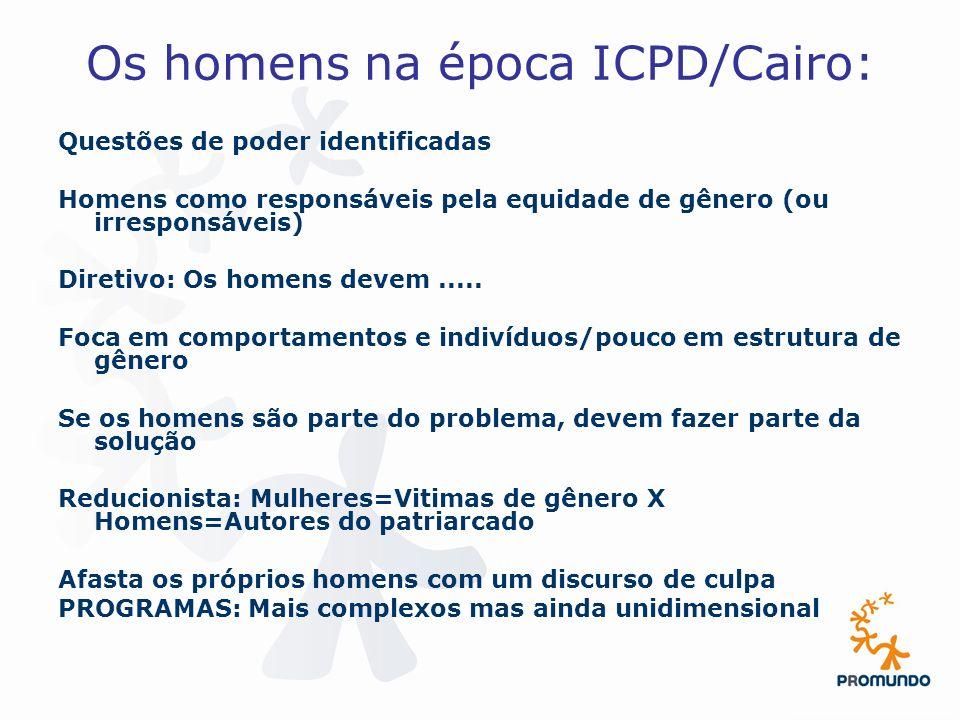 Os homens na época ICPD/Cairo: