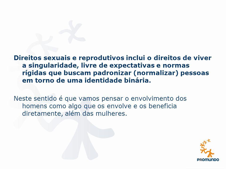 Direitos sexuais e reprodutivos inclui o direitos de viver a singularidade, livre de expectativas e normas rígidas que buscam padronizar (normalizar) pessoas em torno de uma identidade binária.