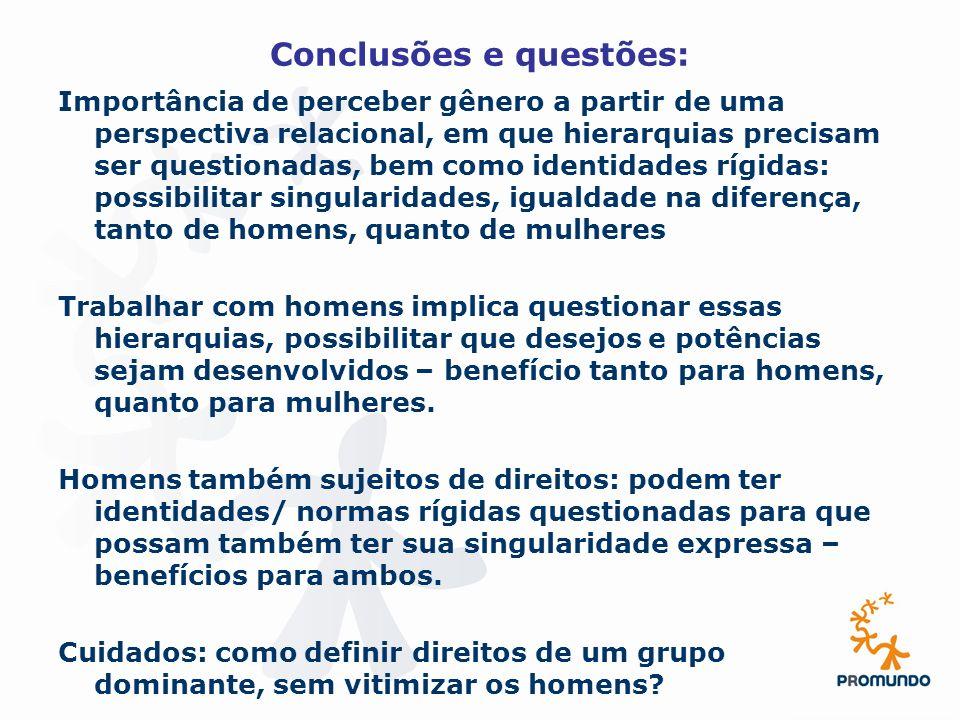 Conclusões e questões: