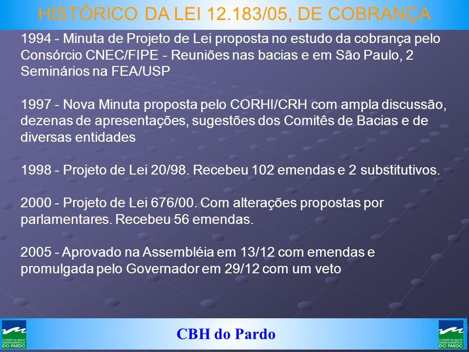 HISTÓRICO DA LEI 12.183/05, DE COBRANÇA