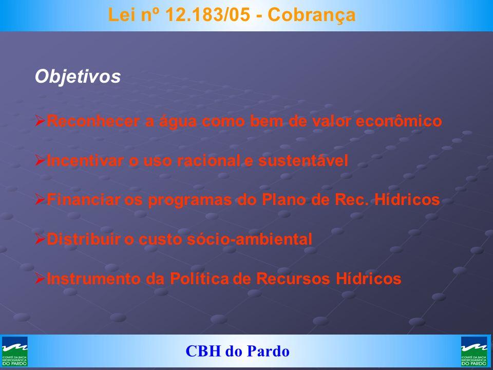 Lei nº 12.183/05 - Cobrança Objetivos
