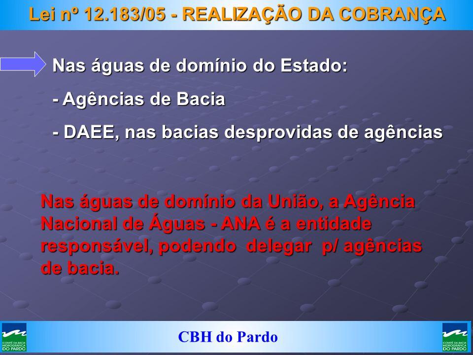 Lei nº 12.183/05 - REALIZAÇÃO DA COBRANÇA