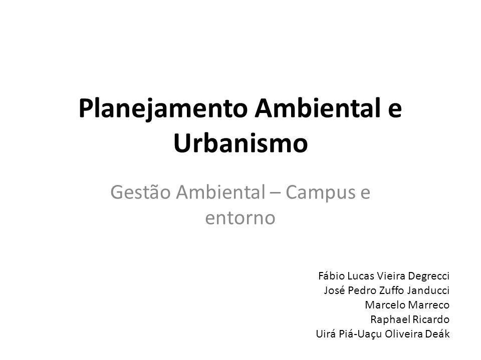 Planejamento Ambiental e Urbanismo