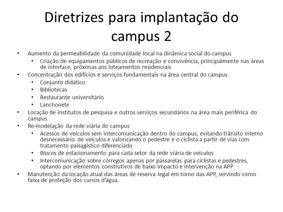Diretrizes para implantação do campus 2