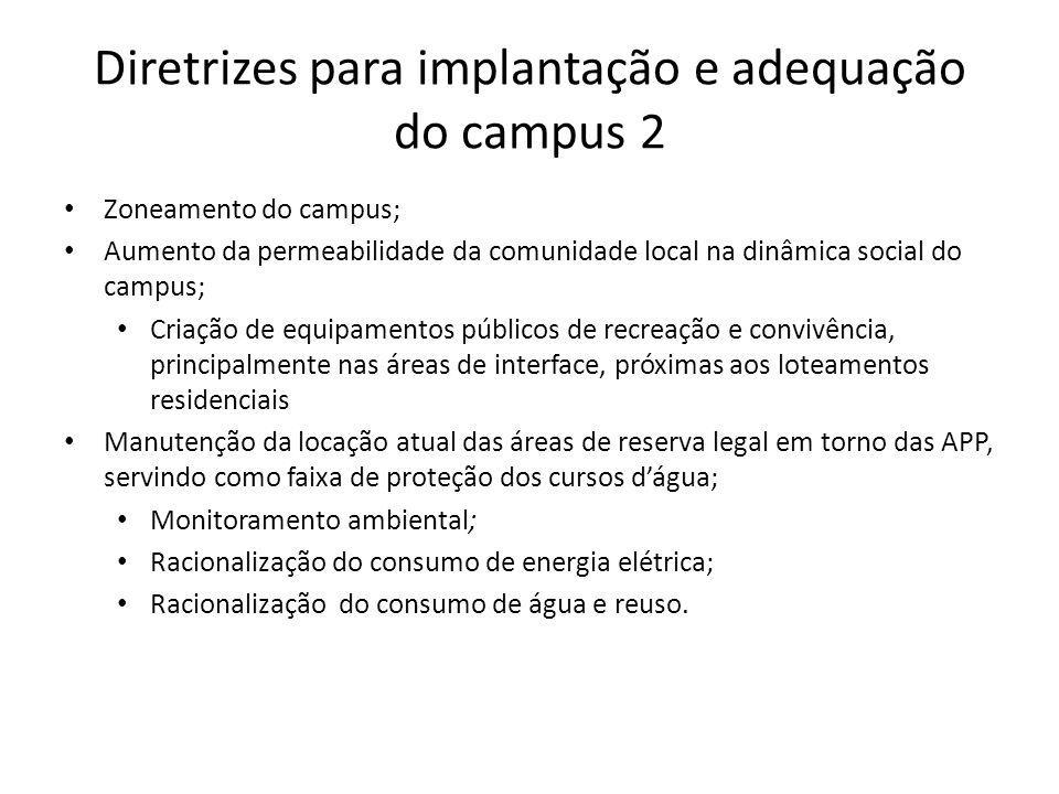 Diretrizes para implantação e adequação do campus 2