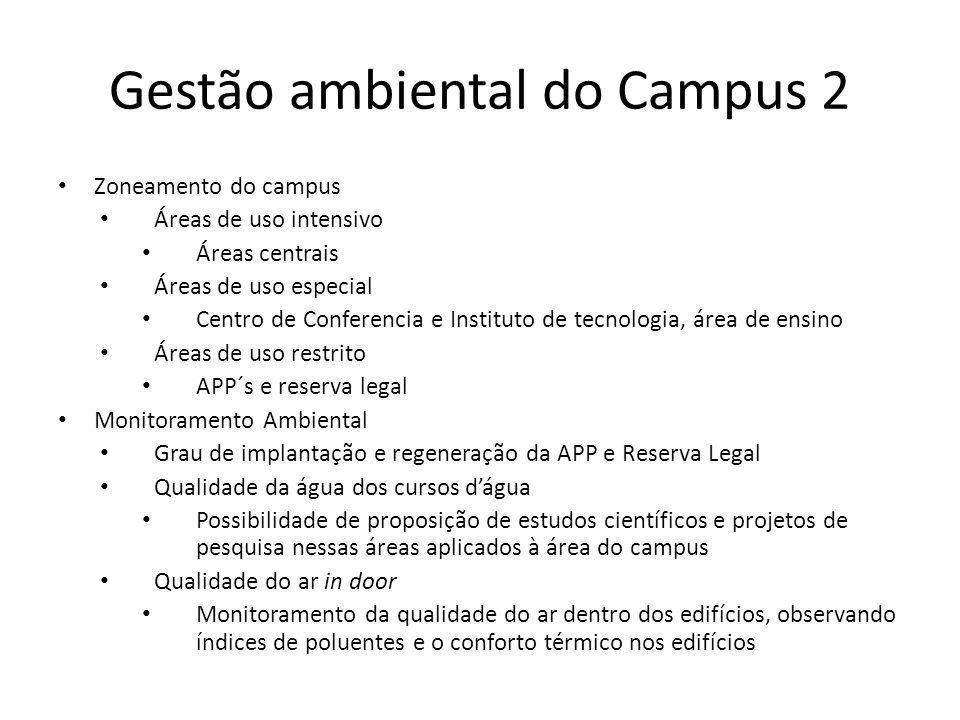 Gestão ambiental do Campus 2