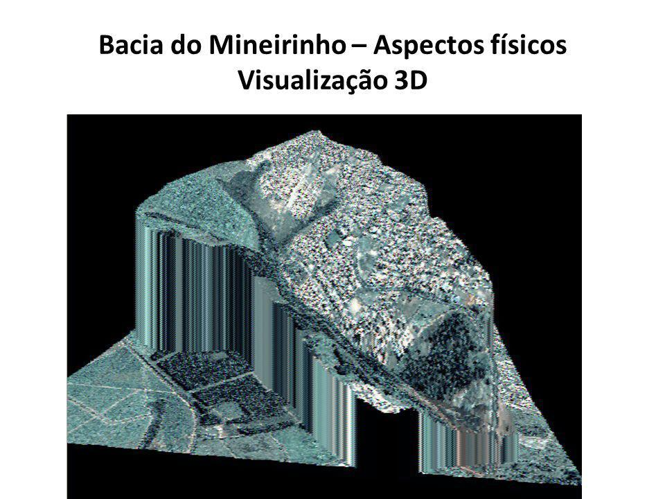 Bacia do Mineirinho – Aspectos físicos Visualização 3D