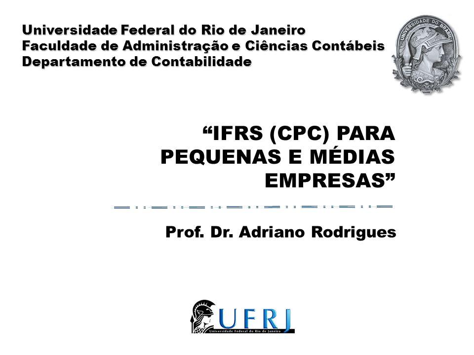 IFRS (CPC) para pequenas e médias empresas
