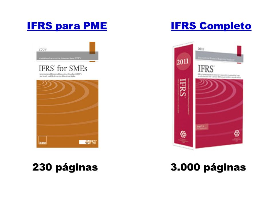 IFRS para PME IFRS Completo