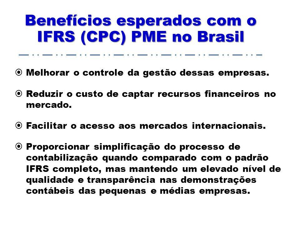Benefícios esperados com o IFRS (CPC) PME no Brasil