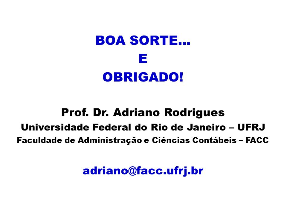 Prof. Dr. Adriano Rodrigues