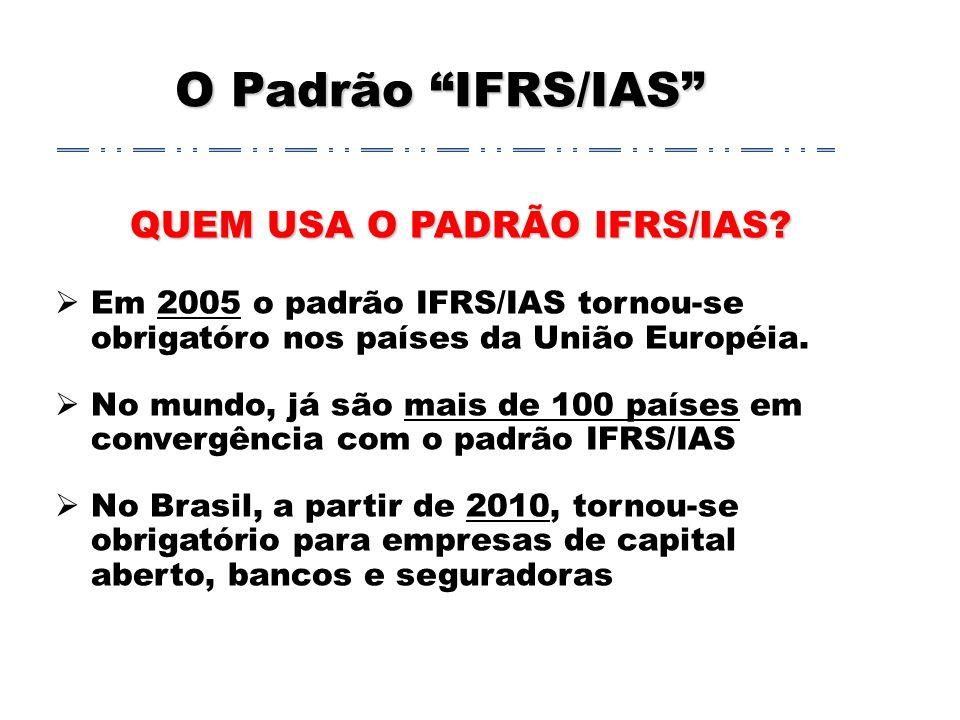 QUEM USA O PADRÃO IFRS/IAS