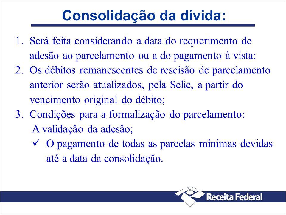 Consolidação da dívida: