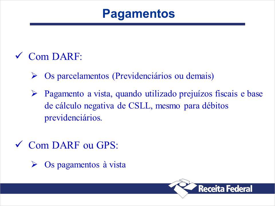 Pagamentos Com DARF: Com DARF ou GPS: