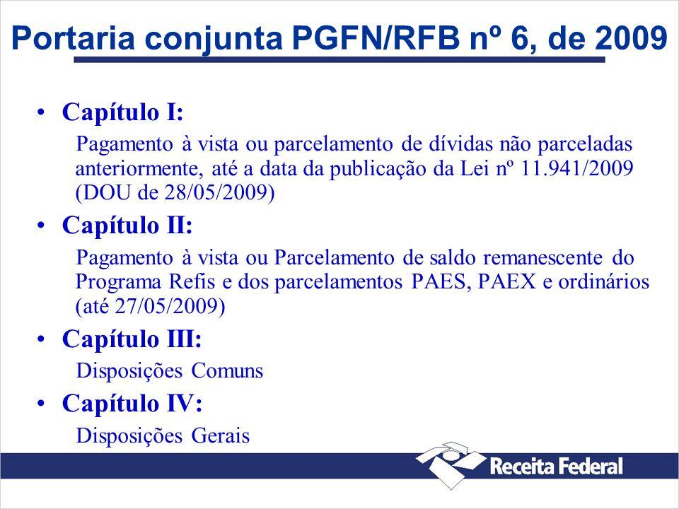 Portaria conjunta PGFN/RFB nº 6, de 2009