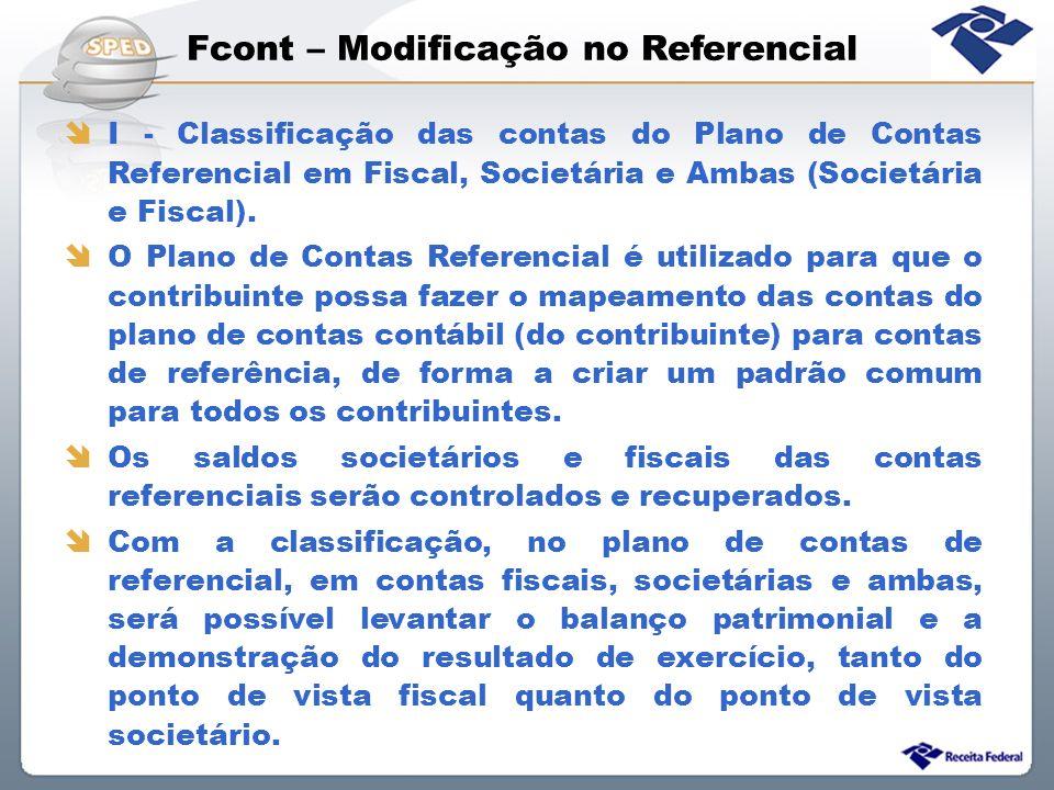 Fcont – Modificação no Referencial