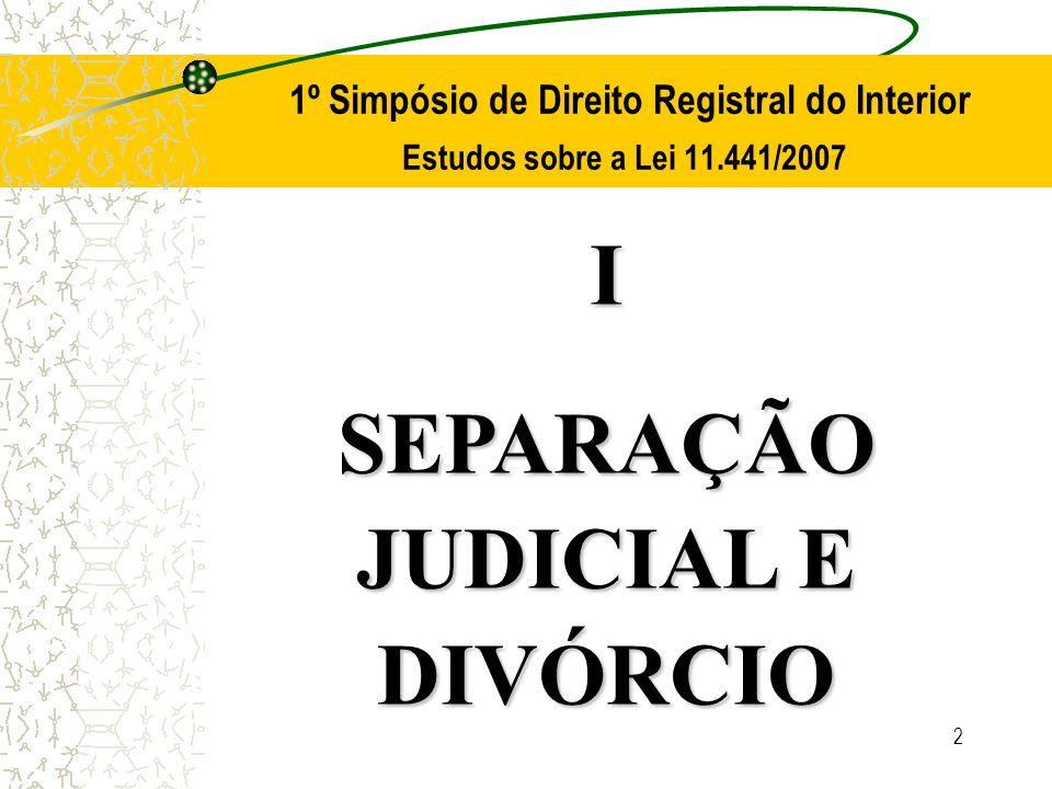 SEPARAÇÃO JUDICIAL E DIVÓRCIO