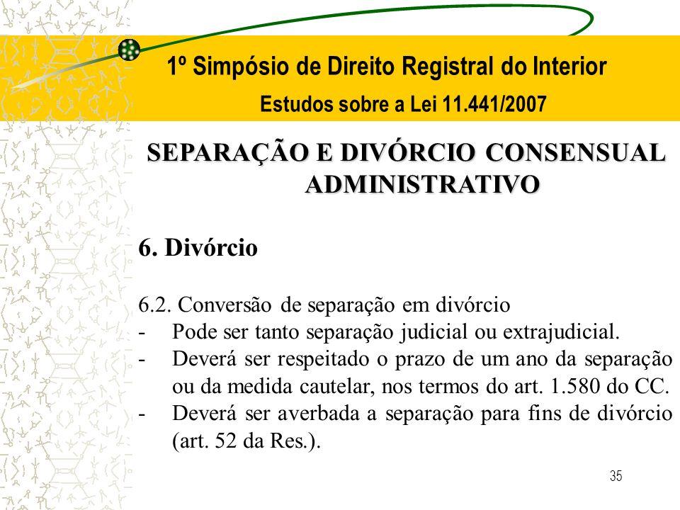 SEPARAÇÃO E DIVÓRCIO CONSENSUAL ADMINISTRATIVO