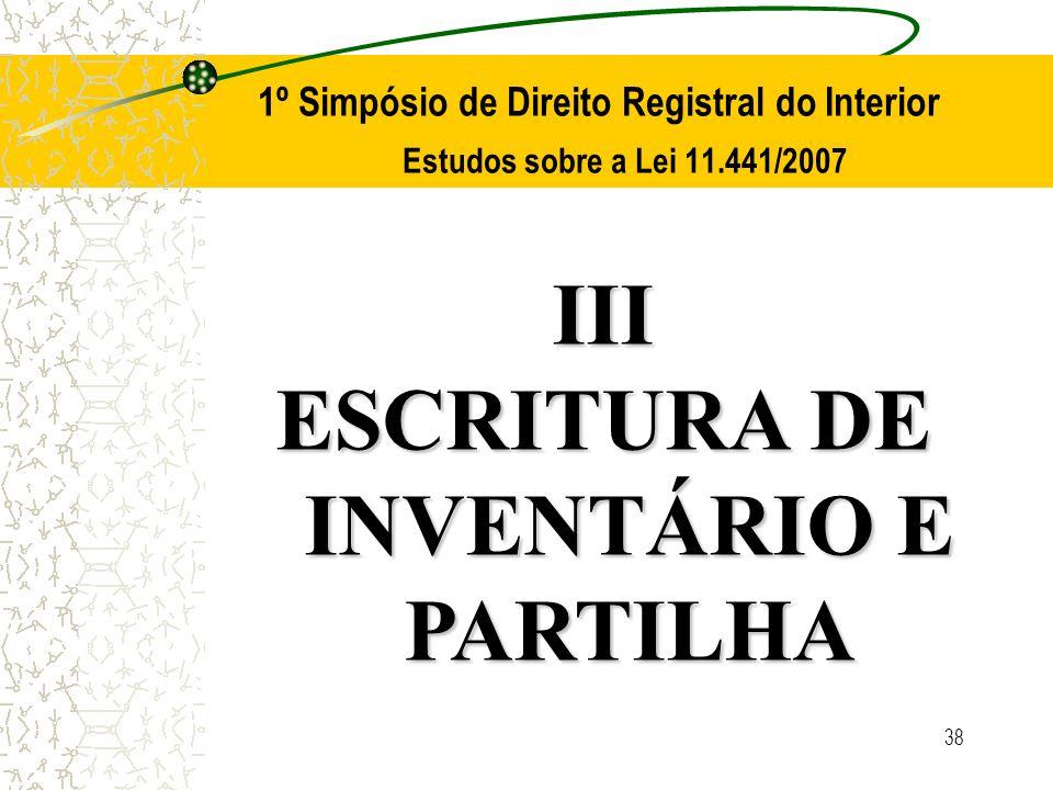 ESCRITURA DE INVENTÁRIO E PARTILHA