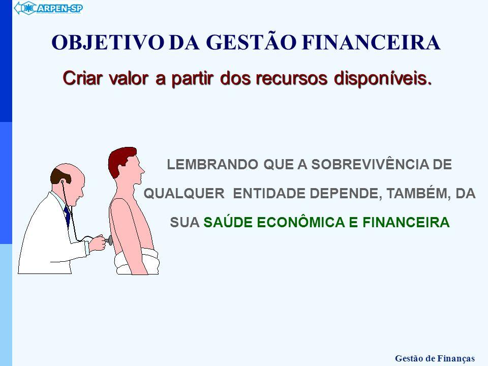 OBJETIVO DA GESTÃO FINANCEIRA